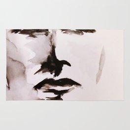 Watercolor Face Rug