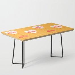lovebirds - flamingos in love Coffee Table