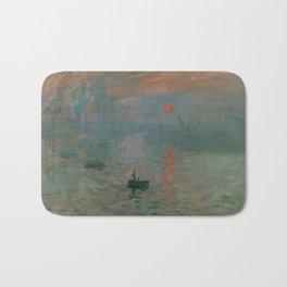 Claude Monet - Impression, Sunrise Bath Mat