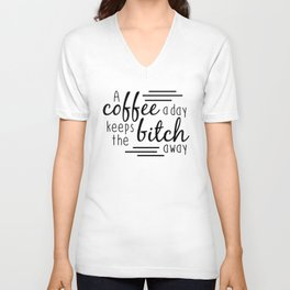 A Coffee A Day Unisex V-Neck