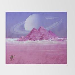 Pyramids, Saturn & the Desert Throw Blanket