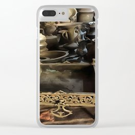 Handcrafted Tin And Copper Kitchenwares Clear iPhone Case