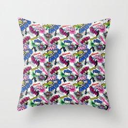 Pop Art Boom!!! Throw Pillow