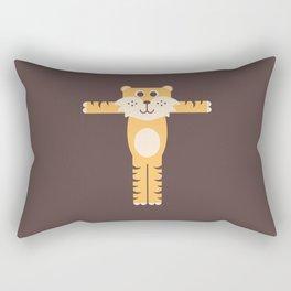 Letter T // Animal Alphabet // Tiger Monogram Rectangular Pillow