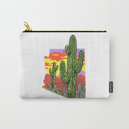 Arizona Saguaro Sunset Carry-All Pouch