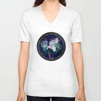 ursula V-neck T-shirts featuring Ursula by Mazuki Arts