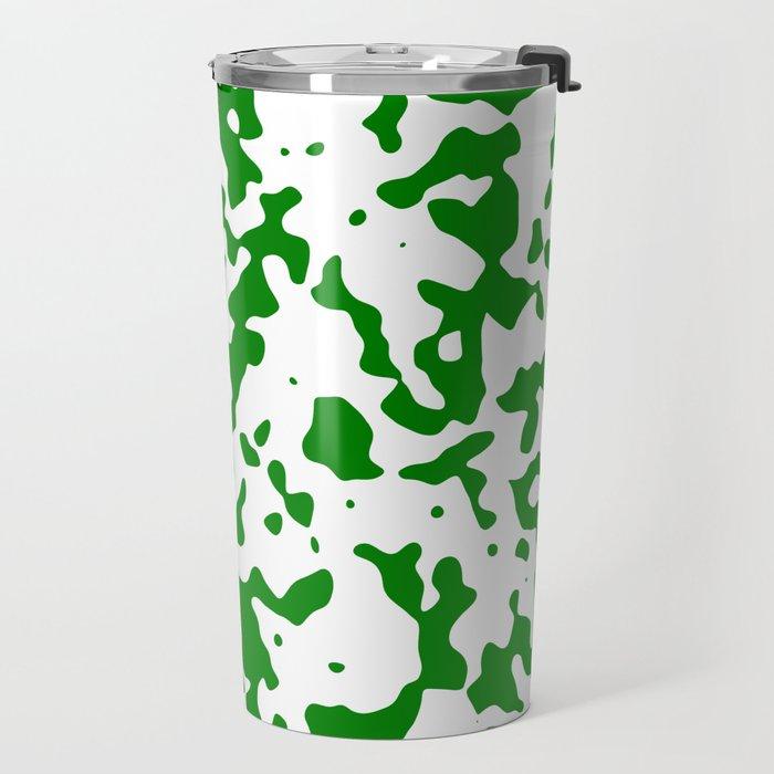 Spots - White and Green Travel Mug