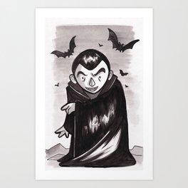 Vampire - Inktober/Drawlloween 2015 Art Print