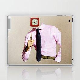 Business Man Alarm Laptop & iPad Skin