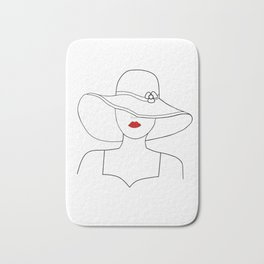 Red Lipstick Bath Mat