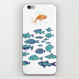Seek Discomfort Fish iPhone Skin