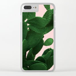 Cactus On Pink Clear iPhone Case