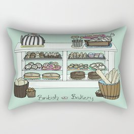 British Bakery Rectangular Pillow
