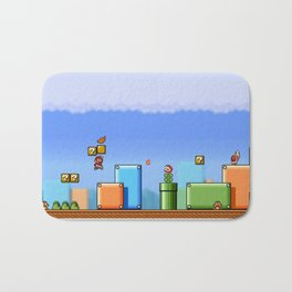 World 1-1 Bath Mat