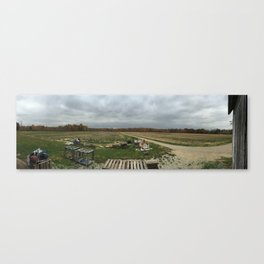 Farm Barn View Canvas Print