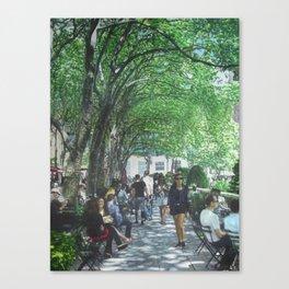 Bryant Park_painting Canvas Print