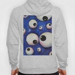 Blue Monster Eyes Hoody