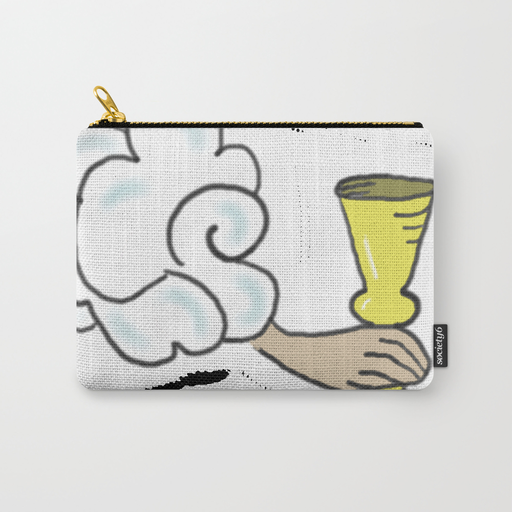 Four Of Cups Tarot Cloud Carry-all Pouch by Pinkcrow CAP7330566