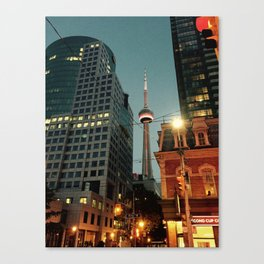 CN Tower Night Time Canvas Print