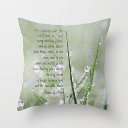 Teresa of Avila Quote Throw Pillow