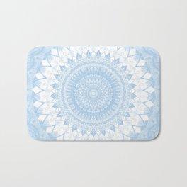 Baby Blue Boho Mandala Bath Mat