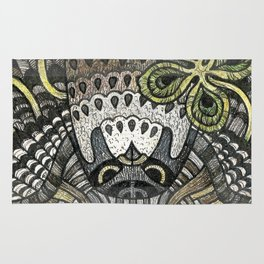 Falcon on clover Rug