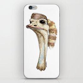 Ostrich in a Coonskin Hat iPhone Skin