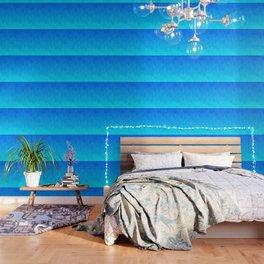 Blue ombre flames Wallpaper