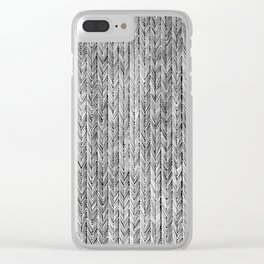 Ink Weaves: Grey Opal Clear iPhone Case