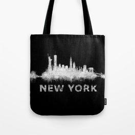 new york nyc city cityscape watercolor white v6 Tote Bag
