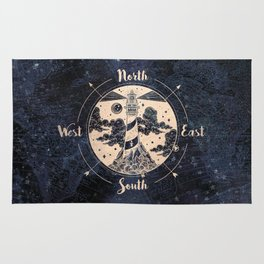Compass World Star Map Rug