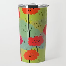 Fiori allegri stilizzati Travel Mug