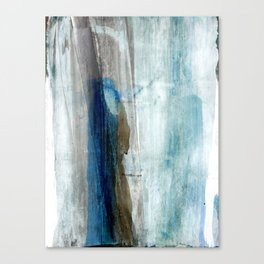 Blue and Brown Abstract Watercolor Canvas Print