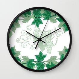 Abstract frame from grapevines Wall Clock