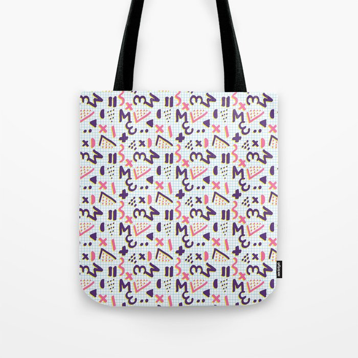 Horrible Patterns ~ Squared 80s Tote Bag by bespired