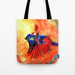 warrior bird Tote Bag
