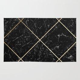 Gold & Black Marble 01 Rug