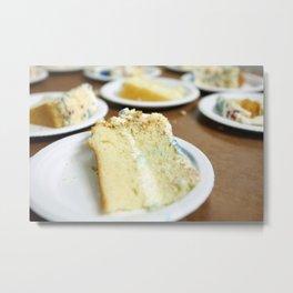 Cake Slices Metal Print