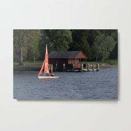 Boating on the Connecticut River Metal Print