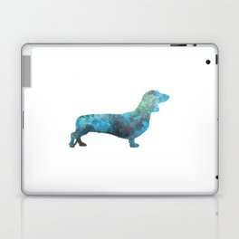 Female Dachsund in watercolor Laptop & iPad Skin