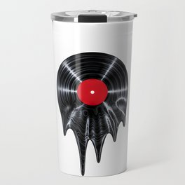 Melting vinyl / 3D render of vinyl record melting Travel Mug