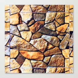 Eagle Moss Rocks Canvas Print