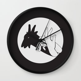 Not A Gang Sign For Goats Wall Clock