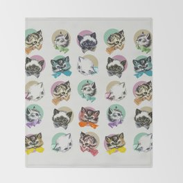 Cats & Bowties Throw Blanket