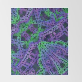 Green and purple film ribbons Throw Blanket