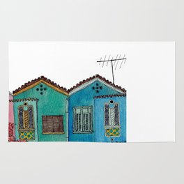 Colored houses 1 Rug