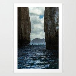 Kicker Rock Galapagos Art Print