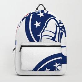American Artisan Cheese Maker USA Flag Icon Backpack