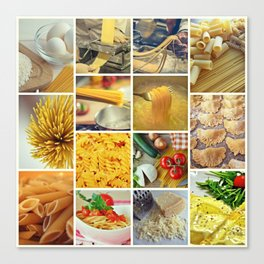 Collage Pasta food Canvas Print