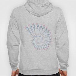 Tribal Mermaid Spiral Shell on Violet Hoody